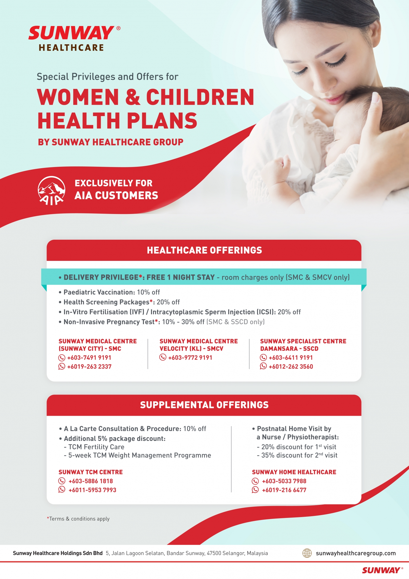Women & Children Health Plans - for AIA customers
